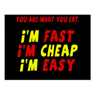 Funny Fast Cheap Easy T-shirts Gifts Postcards
