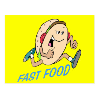 Funny Fast Food T-shirts Gifts Postcards