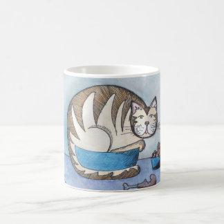 Funny Fat Cat Art Mug