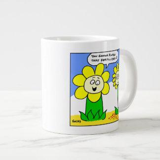 Funny Fat Flower Gardener Mug 20 Oz Large Ceramic Coffee Mug
