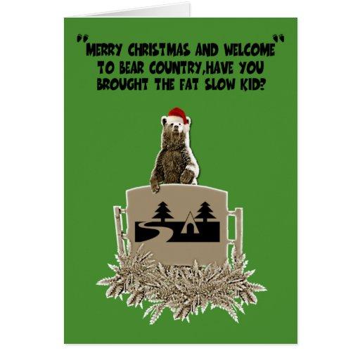 Funny fat joke Christmas Greeting Card