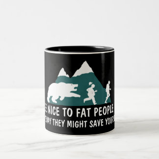Funny fat joke coffee mugs