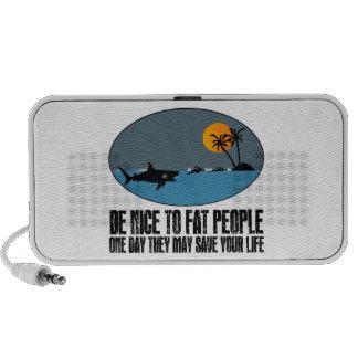 Funny fat joke laptop speakers