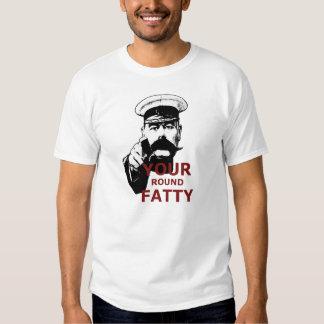 Funny fat joke tee shirt