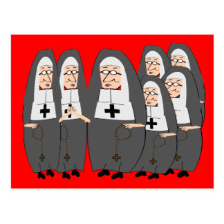 "Funny ""Fat Nuns"" Gifts for any occasion Postcard"