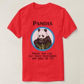 Funny Fat Panda, Vegetables Don't Work T-Shirt