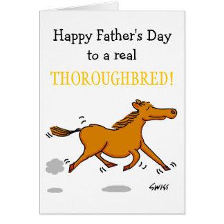 Funny Father s Day Card Especially 4 Horse Lovers