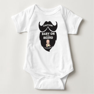Funny Father's Day Baby On Beard bodysuit