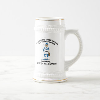 Funny Father's Day Baseball Dad Beer Steins