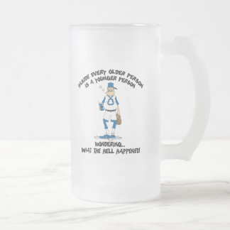 Funny Father's Day Baseball Dad Frosted Glass Mug