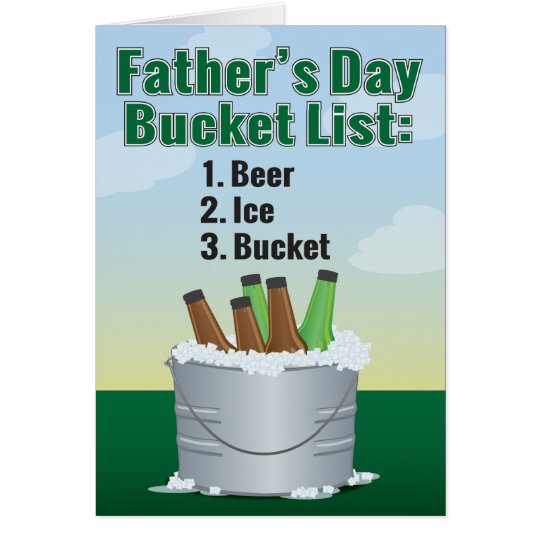 Funny Father's Day Card - Beer Bucket List