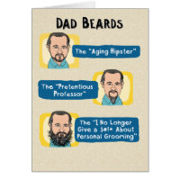 Funny Father's Day Card: Dad Beards
