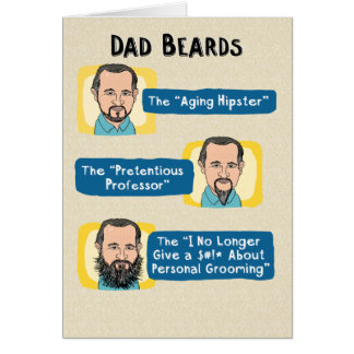 Funny Father's Day Card: Dad Beards Greeting Card