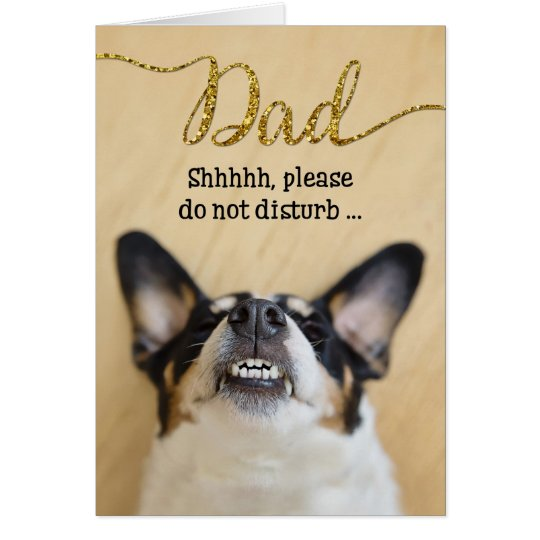 Funny Father's Day Card - Dog with Goofy