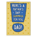 Funny Father's Day Card: Test Results Greeting Card