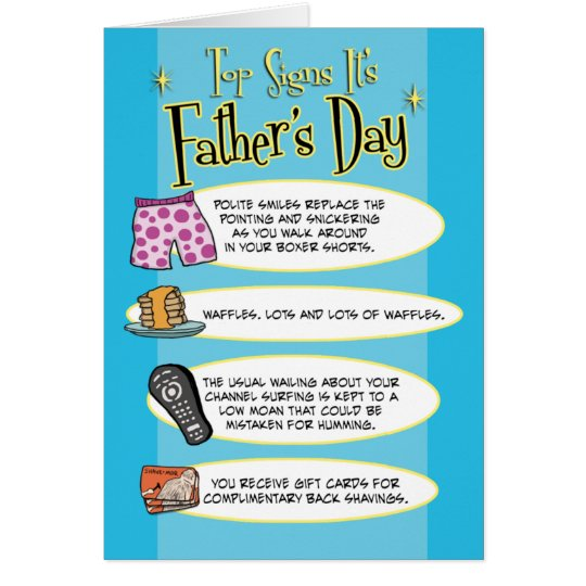 Funny Father's Day: Top Signs Card