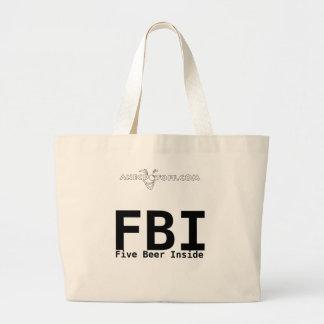 Funny FBI bag: Five Beer Inside