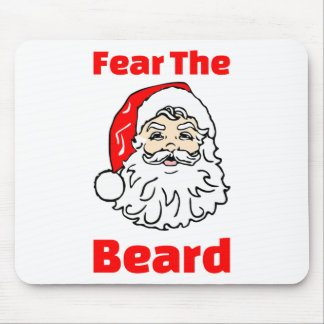 Funny Fear The Beard Santa Claus Mouse Pad