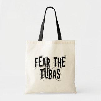 Funny Fear The Tubas Canvas Bags