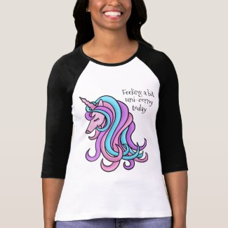 Funny feeling unicorn girly fashion T-Shirt