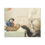 Funny Fellow Toy with Child Canvas Print
