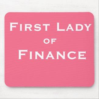 Funny Female CFO Accountant Boss Joke Name Mouse Mat