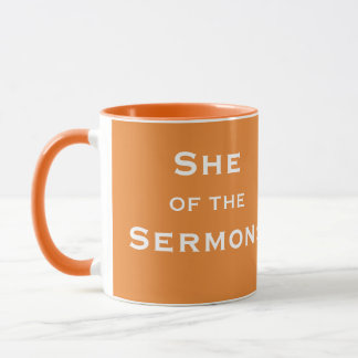 Funny Female Clergy Minister Sermon Nickname Mug