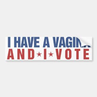 Funny feminist humor bumper sticker