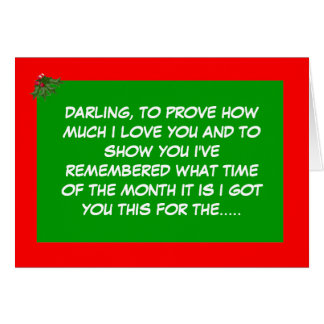 Funny festive period card
