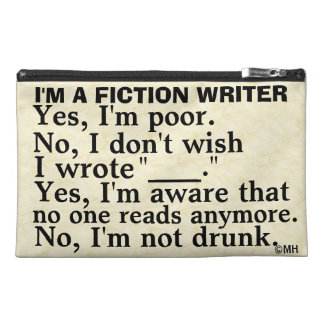Funny Fiction Writer Answer Sheet Travel Accessories Bag