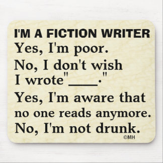 Funny Fiction Writer Answer Sheet Mouse Mat