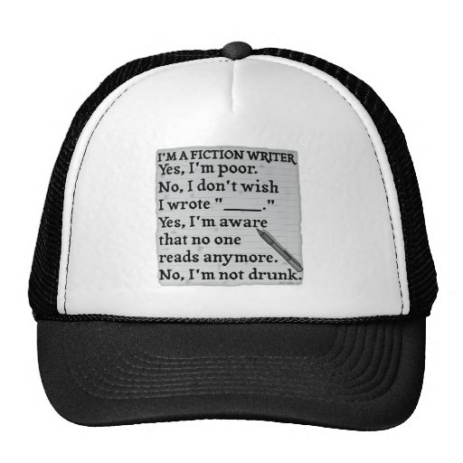 Funny Fiction Writer Answer Sheet Paper Trucker Hats
