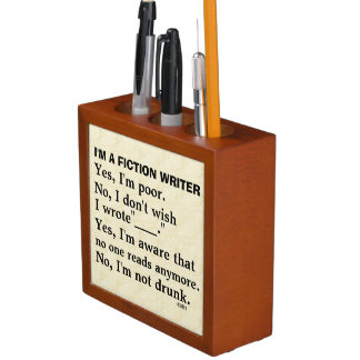 Funny Fiction Writer Answer Sheet Pencil Holder