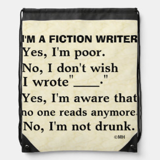 Funny Fiction Writer Answer Sheet Backpack