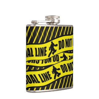 Funny Field Hockey Goalie Design Hip Flask