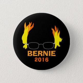 Funny Fiery Hair Bernie Sanders 6 Cm Round Badge