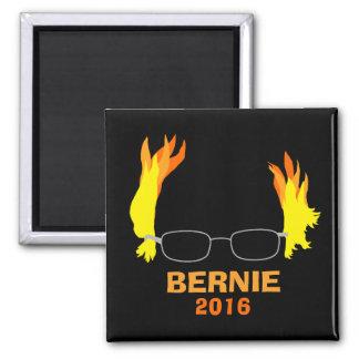 Funny Fiery Hair Bernie Sanders Square Magnet