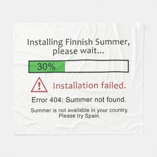 Funny Finnish Summer fleece blankets