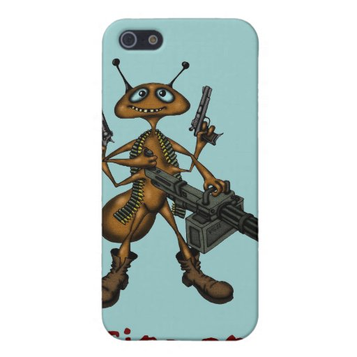 Funny fire ant with guns cartoon art i phone case iPhone 5 case