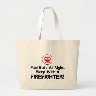 Funny Firefighter Tote Bags