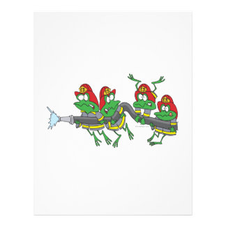 funny firefighter froggy frogs 21.5 cm x 28 cm flyer