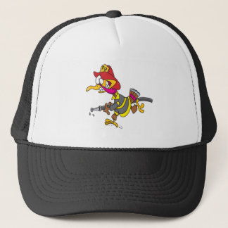 funny firefighter turkey cartoon trucker hat