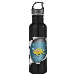 Funny Fish Inside Trompe L'oeil 710 Ml Water Bottle
