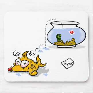 funny fish mouse mat