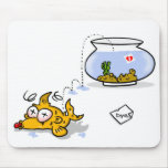 funny fish mouse mats