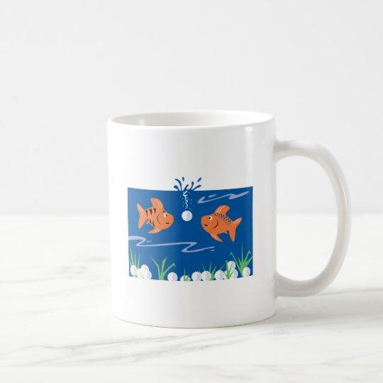 funny fish pondering golf balls underwater coffee mug