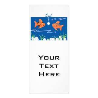 funny fish pondering golf balls underwater rack card design