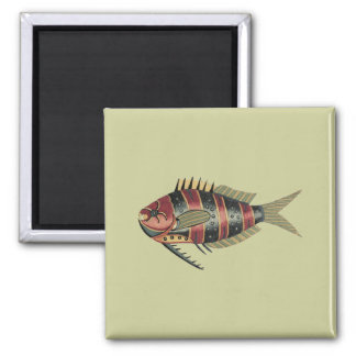 Funny Fish Striped Magnet