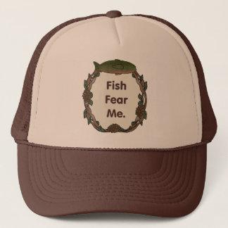 Funny Fisherman Cap Fish Fear Me
