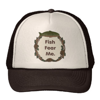 Funny Fisherman Cap: Fish Fear Me Hat